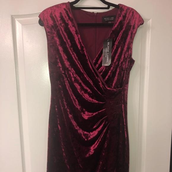 Black Label Dresses & Skirts - Burgundy above the knee dress